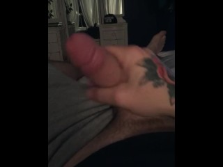 Horny daddy cums