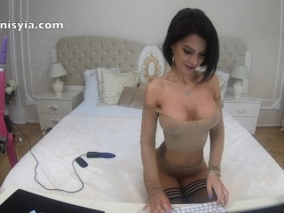 Anisyia Livejasmin 4k stockings fetish fucking machine