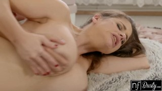 And se tongue nf make busty using man cum to bigtits her sex on