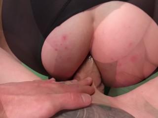 ripped yoga pants anal