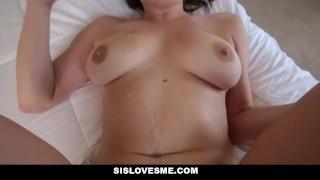 SisLovesMe - Hot Stepsis Rides Stepbros Big Cock