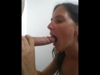 Orgasm tubes sneaky bathroom blowy x butt outside big ass babe brunette blowjob cums