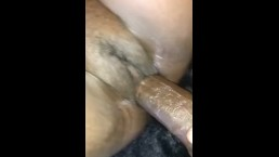 Stuffing the pussy
