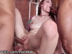 Anna DeVille Loves this Intense IR DP Gangbang Fuckfest!