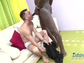 Interracial Muscled Men Ass Fucking