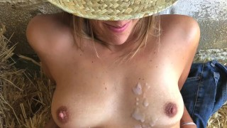 She Smiles As She Gets My Huge Load Of Cum - Outdoor Cumshot In The Hey Couples hd