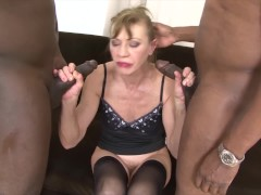 - Granny anal fucked in hardcore interracial threesome she is so horny/><br/>                         <span class=