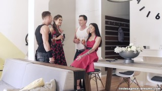 Swinger Party Rockabilly Style - Little Caprice get wild