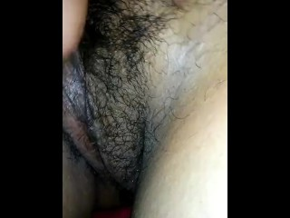 Playing with the wife's wet pussy while she sleeps