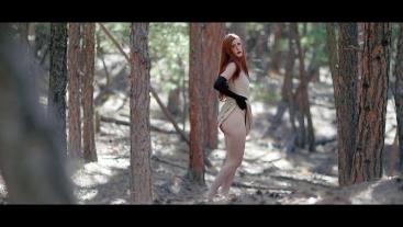 Forest Striptease & Fingering Until Orgasm   freckledRED
