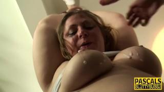 Plump bdsm slut throats Sex cock