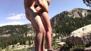 Sex on mountain! Outdoor SQUIRTING!!