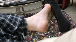 Sexy Teen Shoeplay in Public at Doctor's Office Waiting Room Shoe Dangle