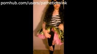 Asian Slut Strips, Wedgies, and Spanks Self (Yet Again!) Korean teen