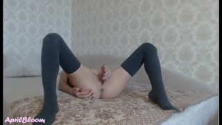 Perfect Teen 18yo Plays with a Huge Glass Dildo and has a Shaking Orgasm Masturbate asian