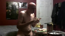 piggy eating and stuffing disgusting meal for Mistress Lea 7/22/18