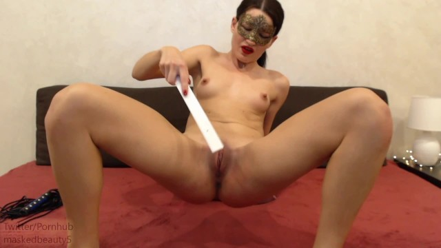 Girls cum from pain - Self punishment pt3, 500 spanks, slaps, whip, ruler, paddle pain then cum