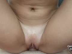 She is rubbing her wet pussy on my dick till cumshot