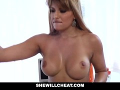 SheWillCheat - Lucky Boy Fucks Hot Latina Milf