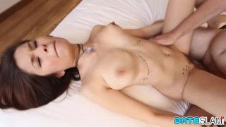 Date Slam - 1st date with Asian slut ends with creampie - Part 1
