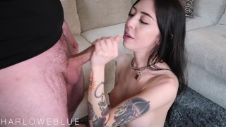 Little Spinner Gets Creampied In Rough Fuck On The Couch porno