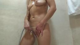Masturbation in the shower. Excellent orgasm.