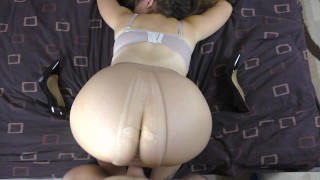 - PAWG Teen With A Big Ass And Pantyhose Fucked