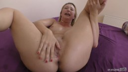 Samantha Rone squirting all over the room in POV