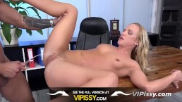 Vipissy - Piss fuck with naughty blonde Vinna Reed who gets drenched in pee