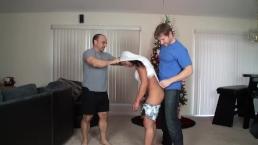 Alexis Rain wedgied by Tony Dinozzo & Alex Adams
