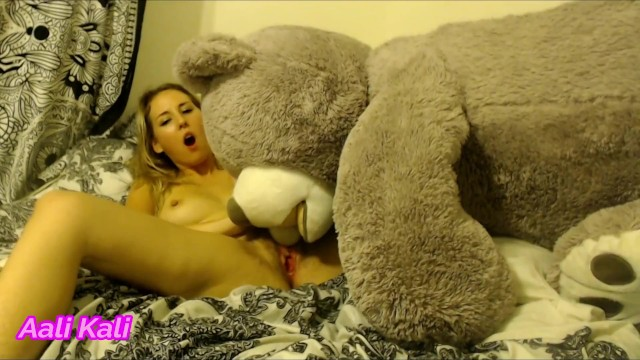 Teddy bear fucking girl in movie female semi
