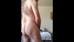 Stripping off pants and stroking cock 4 u