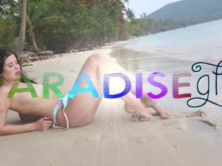 Paradise gfs - seksowna brunetka modelka ssąca mojego kutasa w raju - część 1