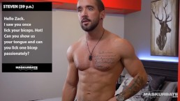 Straight French Canadian Muscle Hunk & His Webcam Solo