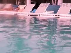 Public Pool Masturbation Almost Caught Naked