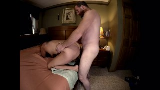 Sexy Milf Ass Fucked-Fixed Sideview-Multiple Orgasms with Anal Creampie!! His fucks