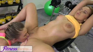 Fitness Rooms Big butt lesbians get hot and horny