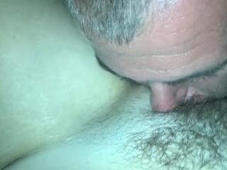 Eating pussy for dinner