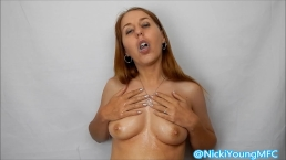 Spit Fetish Slobbering all over titties