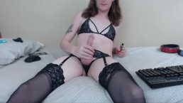 2018-07-09 Jadeisrad Chaturbate Camshow Latex Dress + Selfsucking