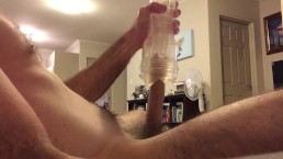 Fleshlight fuck with laughing intense cumshot