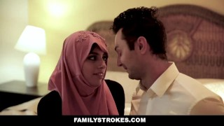 Busty familystrokes fat rides in hijab chick cock mother big