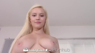 CASTINGCOUCH-X Thick busty blonde fucks casting agent Tits orgasm