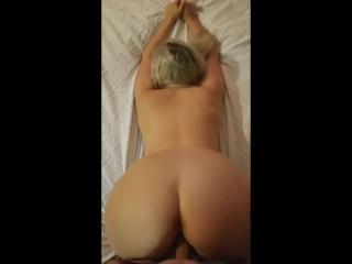 Big Ass Blonde Slut Fucked Doggy