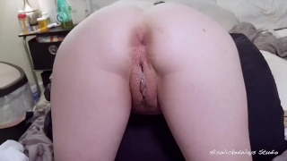 Pussy cum me her bunny with to tight fill begs creampie fuck visible