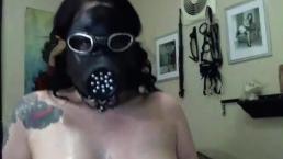 BDSM gas mask part 2
