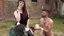 Little Break With Cigar - Mistress Rebekka Rests After Hard Day