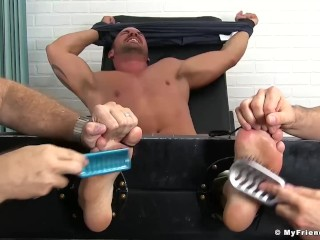 Hot Darin Silvers tied up and dominated by tickling deviants