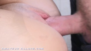 18 yr old Grocery Cashier Sucks Cock, Gets Fucked and Swallows a Hot Load Kink blind
