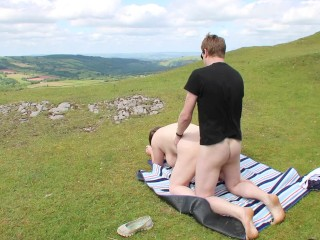 Nude Big Titted Wife Risky Cuckold Sex Fucked by Stranger Outdoors